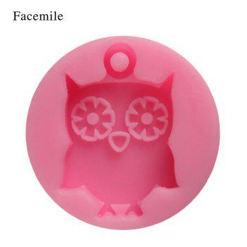 Facemile Owl Shape 3D Silicone Cake Mold Cartoon Chocolate Candy Cake Tools Soap Mold Halloween Fondant Cake Decoration - PINK