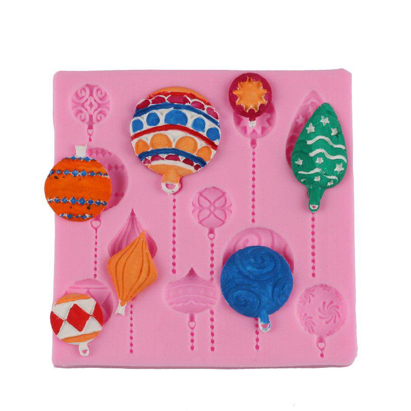 Facemile Christmas DIY Balloon Cake Border Fondant Gum Paste Cupcake Chocolate Silicone Mold Birthday Cake Decorating Tool - PINK