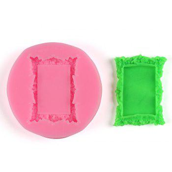 Facemile Retro Frame Mirror Shape for Cake Decorating Tools Chocolate Mold Kitchen Baking DIY Fondant Silicone Sugar Mold - PINK