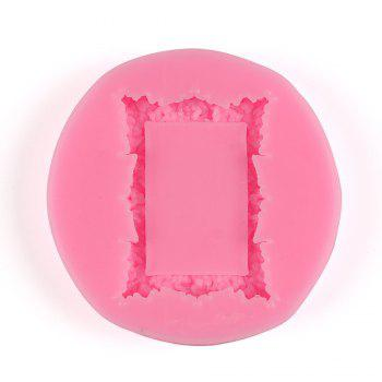 Facemile Retro Frame Mirror Shape for Cake Decorating Tools Chocolate Mold Kitchen Baking DIY Fondant Silicone Sugar Mold - PINK PINK