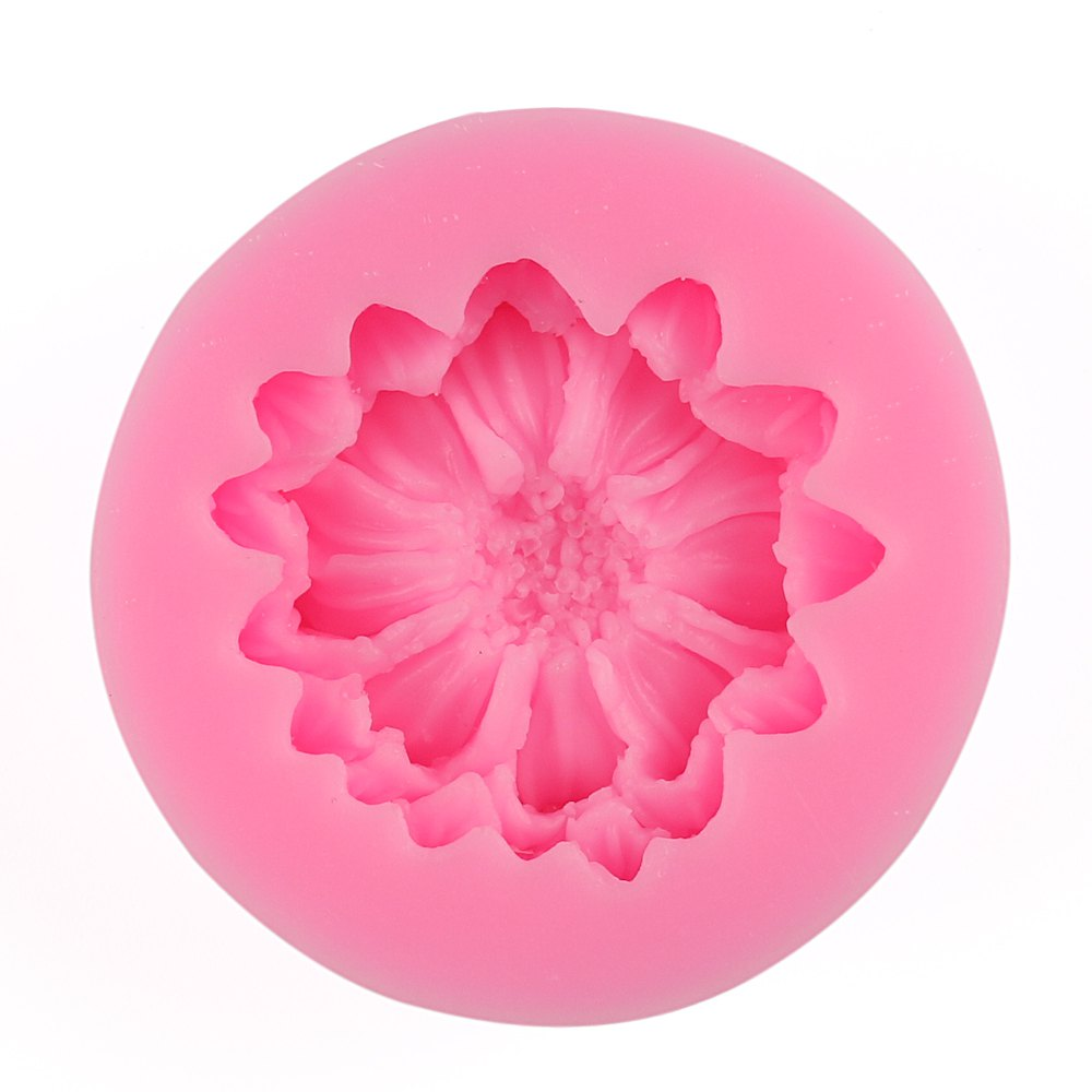 Facemile Sun Flower Petal Silicone Mold Cake Decorating Fondant Flower Sugar Craft Cake Mold Wedding Decoration 10 in 1 fondant cake decorating flower modelling tool set multicolored
