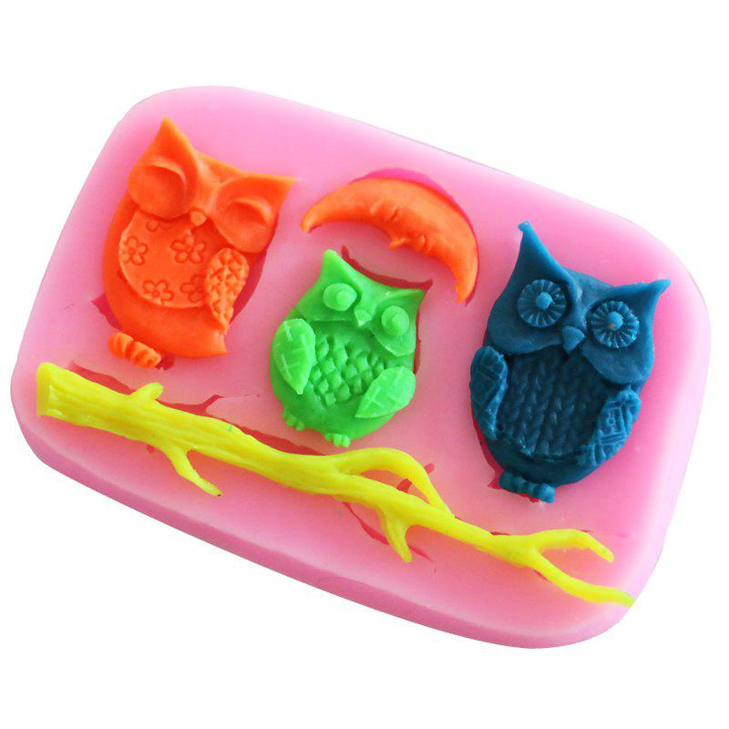 Facemile Epoxy Mold Owls Moon Tree Branch Silicone Mold Cartoon Fondant Cake Soap Chocolate Mould For Decor Cake Bakeware Tool 10 in 1 fondant cake decorating flower modelling tool set multicolored