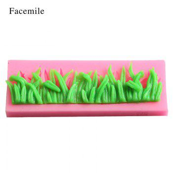 Facemile Silicone Grasses Lace Shape Pudding Muffin Cake Jelly Mold Fondant Wedding Bakeware Cake Decoration Tool 50-400 - PINK