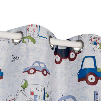 Grommet Top Cartoon Blackout Car Curtains for Family Children Bedroom Living Room - COLORMIX COLORMIX
