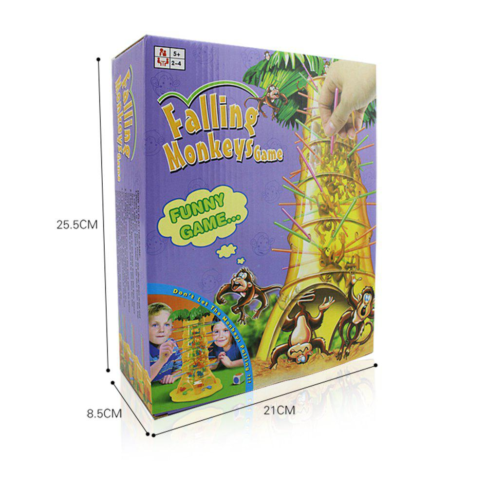 Parent-Child Interactive Board Game Skip Monkey Falling Fancy Interesting Toys - YELLOW
