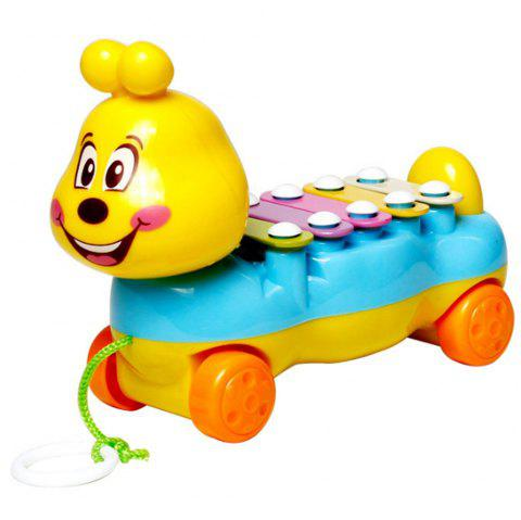 Children's Colorful Caterpillars Hand Knock Tractors Animals early Musical Instruments The Enlightenment Educational Mus - BLUE