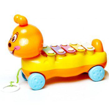 Children's Colorful Caterpillars Hand Knock Tractors Animals early Musical Instruments The Enlightenment Educational Mus - DAISY DAISY