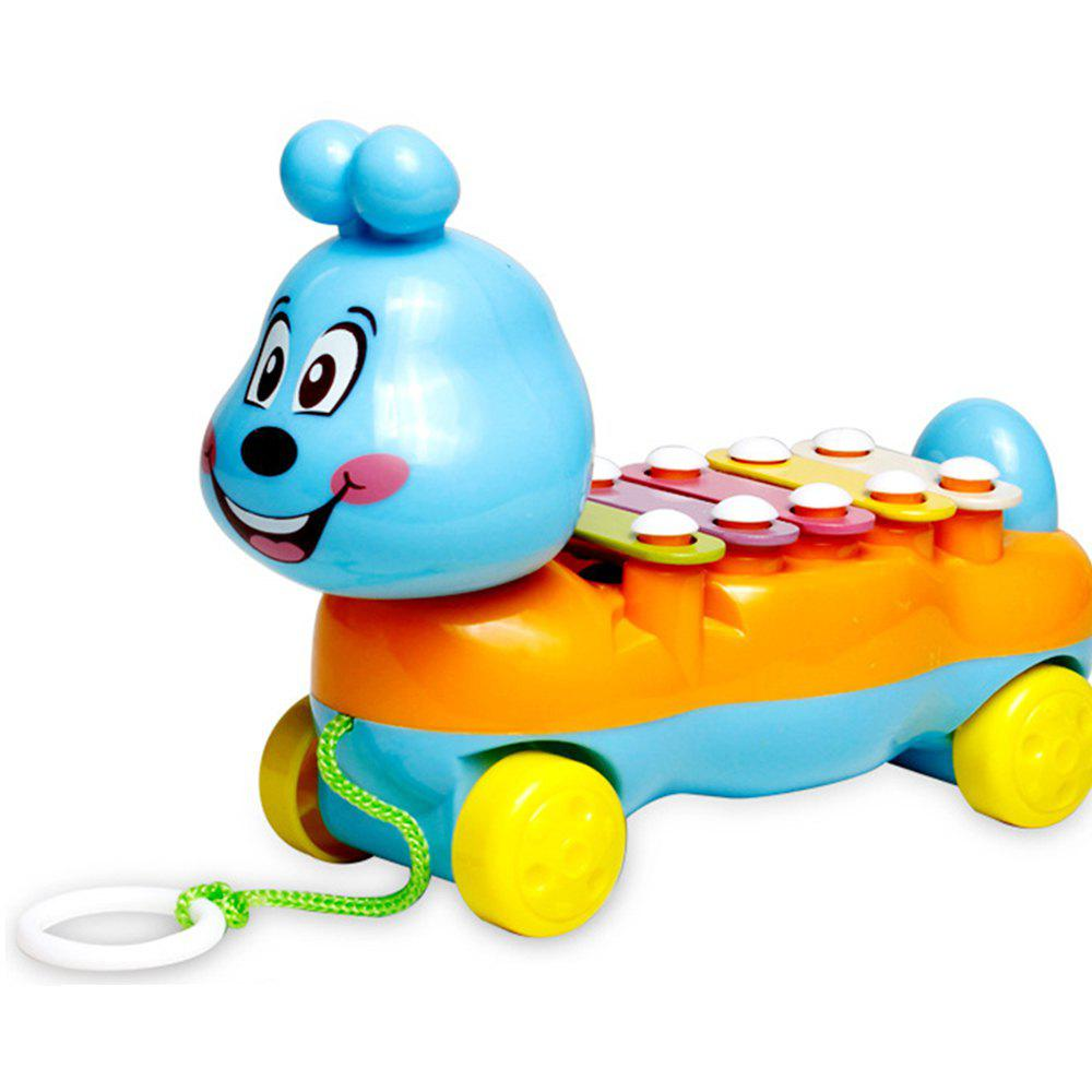 Children's Colorful Caterpillars Hand Knock Tractors Animals early Musical Instruments The Enlightenment Educational Mus - ORANGE