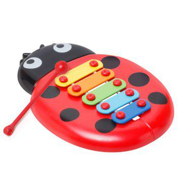 Baby Educational Insects Hand Knock Harp Early Childhood Music Eight Children Percussion Toys - RED RED