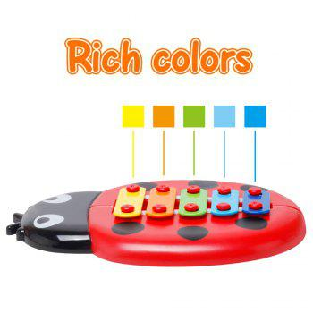 Baby Educational Insects Hand Knock Harp Early Childhood Music Eight Children Percussion Toys - RED