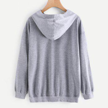 Women's Fashion Large Size Hand Hoodie - GRAY L