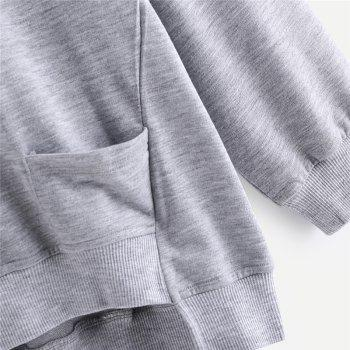 Women's Fashion Large Size Hand Hoodie - GRAY M