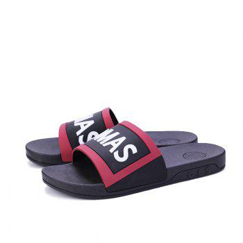 Men's Home Comfort and Anti-skid Slippers - BLACK/RED BLACK/RED