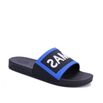 Men's Home Comfort and Anti-skid Slippers - BLACK AND BLUE BLACK/BLUE