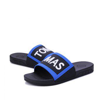 Men's Home Comfort and Anti-skid Slippers - BLACK/BLUE 44