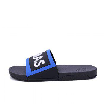 Men's Home Comfort and Anti-skid Slippers - BLACK/BLUE 39