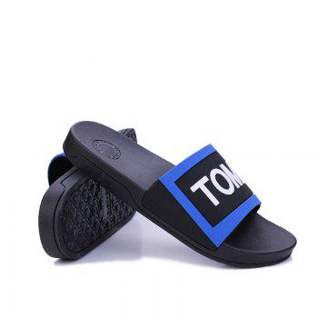 Men's Home Comfort and Anti-skid Slippers - BLACK/BLUE 40