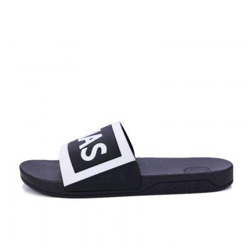 Men's Home Comfort and Anti-skid Slippers - BLACK WHITE 41