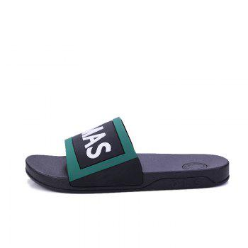Men's Home Comfort and Anti-skid Slippers - BLACK/GREEN 44