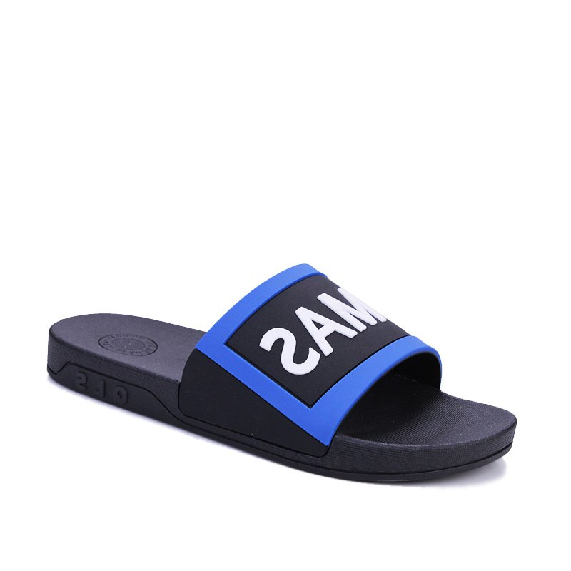 Men's Home Comfort and Anti-skid Slippers - BLACK/BLUE 42