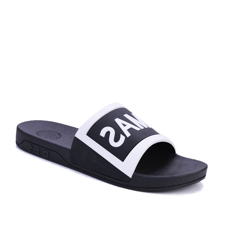 Men's Home Comfort and Anti-skid Slippers - BLACK WHITE 40