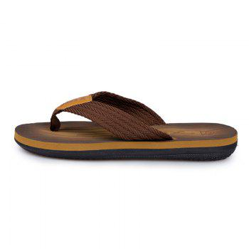 Comfortable Simple Household Beach Slippers - TAN TAN