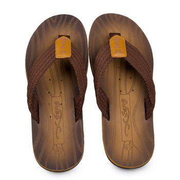 Comfortable Simple Household Beach Slippers - TAN 44