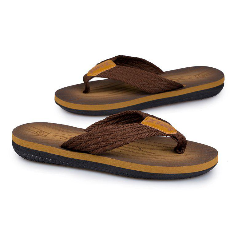 Comfortable Simple Household Beach Slippers - TAN 43