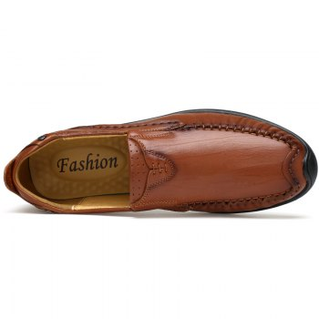 Hand Made Slip on Leather Shoes - TAN TAN