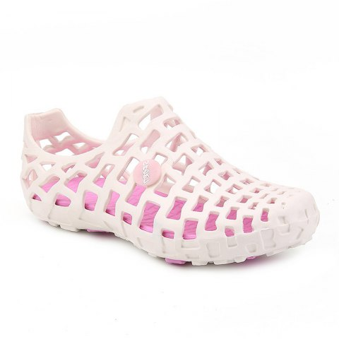 Hot Style Lovers Cave Waterproof Beach Sandals - PINK/WHITE 40
