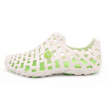 Hot Style Lovers Cave Waterproof Beach Sandals - WHITE / GREEN 40