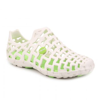 Hot Style Lovers Cave Waterproof Beach Sandals - WHITE + GREEN WHITE / GREEN