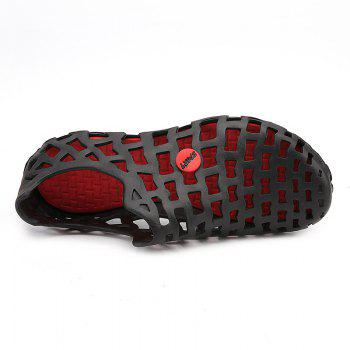 Hot Style Lovers Cave Waterproof Beach Sandals - BLACK/RED 42