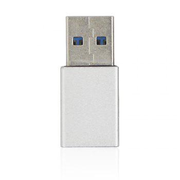 Minismile Aluminium alloy USB 3.1 Type C Female to USB 3.0 A Male Data Charging Extension Adapter for Phone / MACBOOK - SILVER SILVER