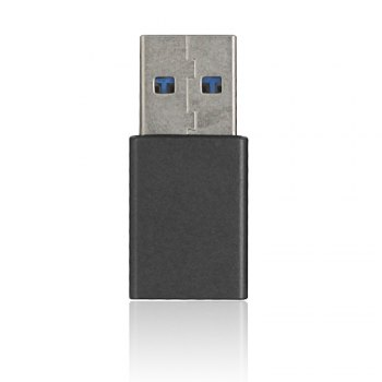 Minismile Aluminium alloy USB 3.1 Type C Female to USB 3.0 A Male Data Charging Extension Adapter for Phone / MACBOOK - DEEP GRAY DEEP GRAY