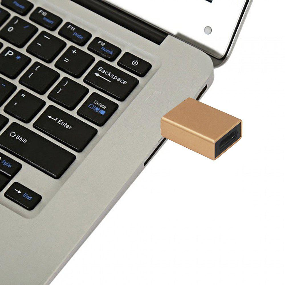 Minismile Aluminium alloy USB 3.1 Type C Female to USB 3.0 A Male Data Charging Extension Adapter for Phone / MACBOOK - GOLDEN