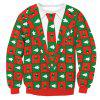 The New Christmas Health Dress for Christmas Sweatshirt - RED M