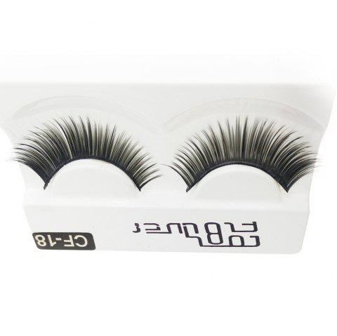 1 Pair The Thick Black Eye end Spin False Eyelashes - BLACK
