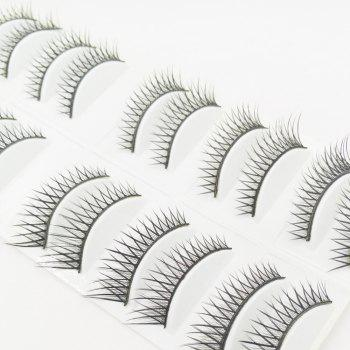 10 Pairs Black Cross Eye end Spin False Eyelash -  BLACK