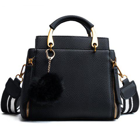 00b1dc54eab4 Wide Straps Shoulder Bag Tote Bag 2018 New Trend Litchi Hair Ball All-Match  Small