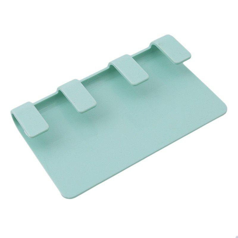 Practical Pop Wall Phone Holder Socket Charging Box Bracket Stand Holder Shelf Mount Support Universal for Mobile Phone - GREEN