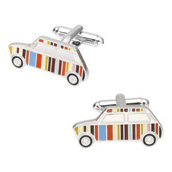 Fashion Colorful Cars French Cufflinks Long Sleeve Shirt Nail Cuff - COLOR