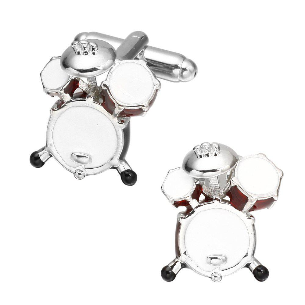 Fashion Colorful Drum Cufflinks French Long Sleeved Shirt Sleeve Nail - COLOR