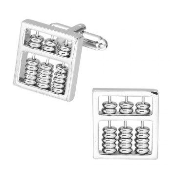 Silver Abacus Cufflinks French Long Sleeved Shirt Sleeve Nail -  SILVER