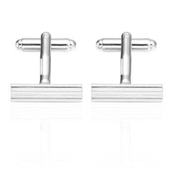 French Long Sleeved Shirt Nail Cuff Links Silver Cufflinks - SILVER SILVER