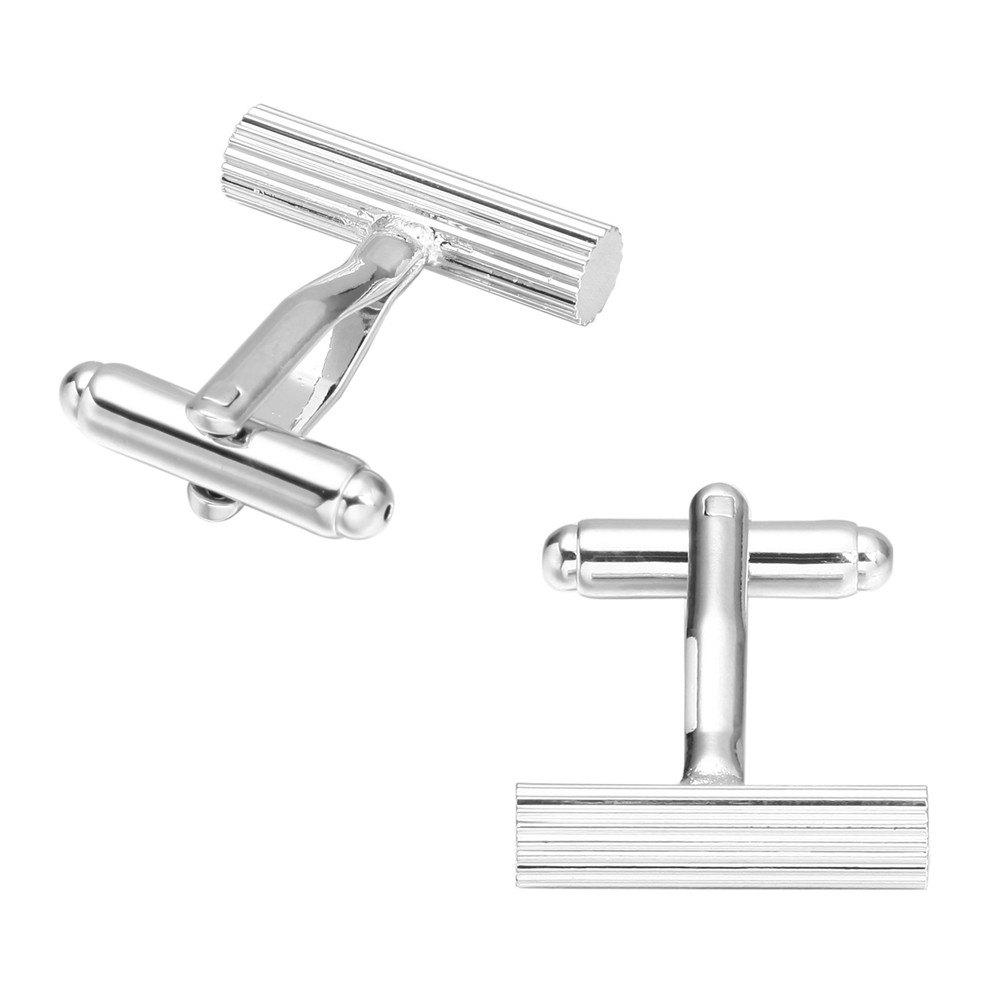 French Long Sleeved Shirt Nail Cuff Links Silver Cufflinks - SILVER