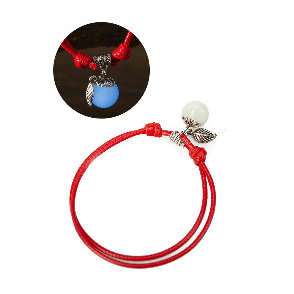Women Ankle Chain Vintage All Matched Luminous Fashion Accessory YMJL-Red - BLUE LIGHT