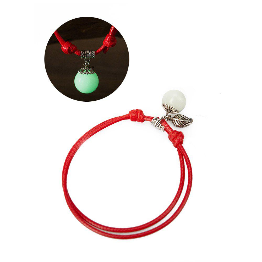 Women Ankle Chain Vintage All Matched Luminous Fashion Accessory YMJL-Red - GREEN