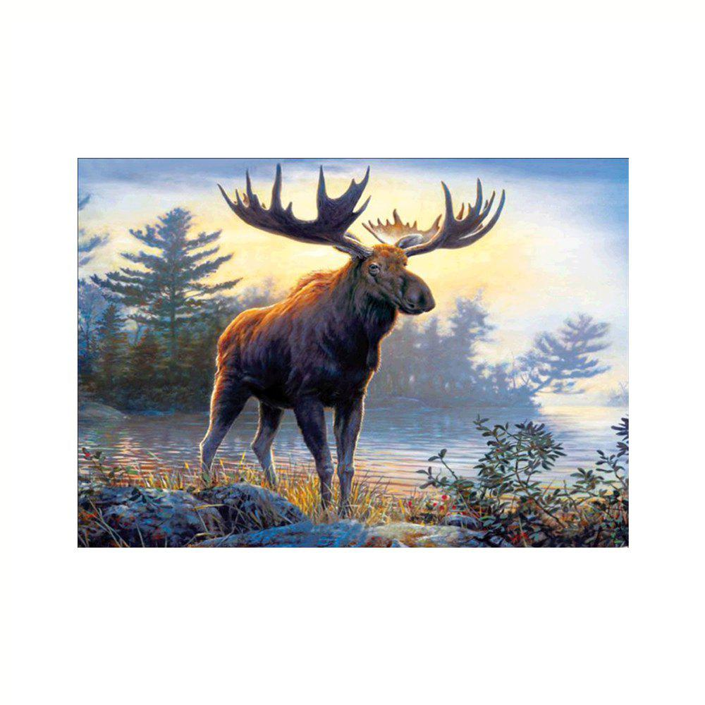 Naiyue 9886 Moose Print Draw Diamond Drawing - COLORMIX