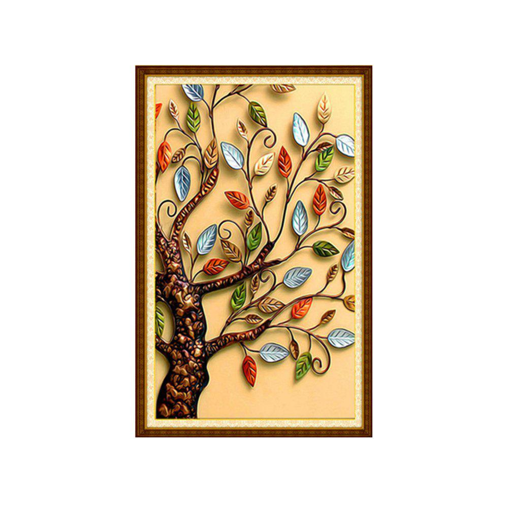 Naiyue 3500-3 Color Leaf Tree Tirage Draw Dessin au diamant - multicolorcolore